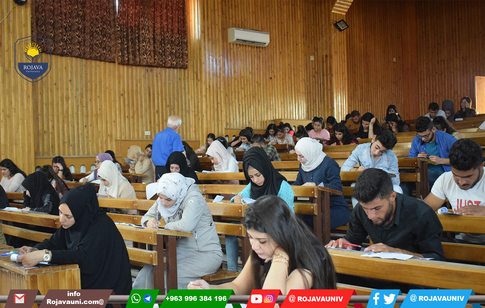 Students continue to take entrance exams for the second day